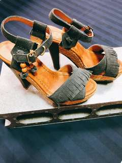 Misssofi楔型高跟涼鞋