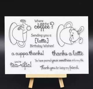 🚚 🌸 [SALE] Coffee Rabbit Clear Stamp