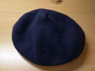 🚚 Queenshop毛尼貝蕾帽 深藍色