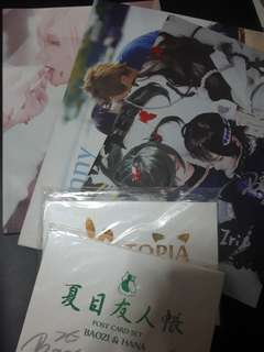 Hana and baozi photobooks and postcards