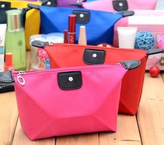 ready stock! travel makeup bag case pink