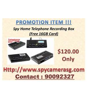 Telephone Recording Box With 16GB