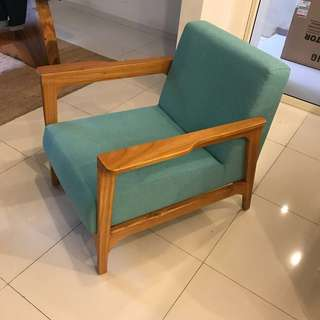 Teal Tosca Pastel Arm Chair