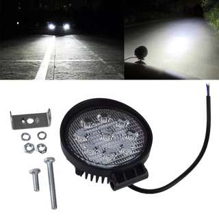 4 Inch 27W Waterproof Roundness Shape LED Working Light for Truck / Forklift / SUV / Excavator
