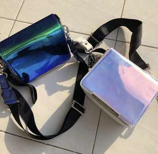 Charles&keith Square Hologram