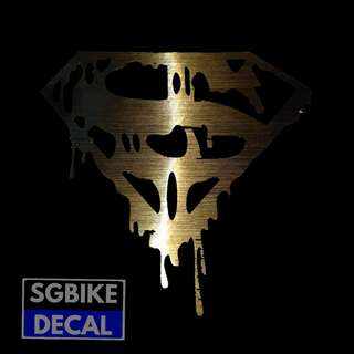 Gold Superman Decal