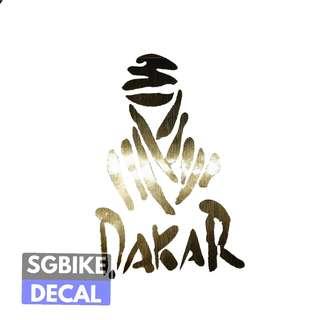 Dakar Gold Decal
