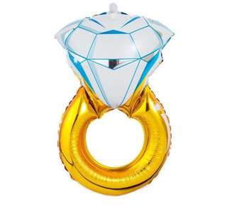 "31"" Diamond Ring Foil Balloon"