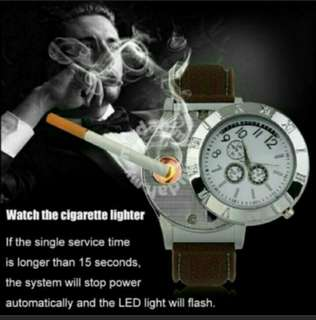 Usb rechargeable lighter watch windproof