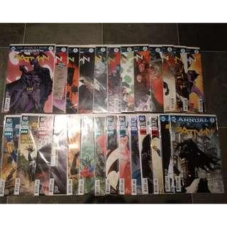 Batman Rebirth #1 to #47 + Rebirth #1 + Annual #1 & #2 + Flash #21 & #22 (DC comics)