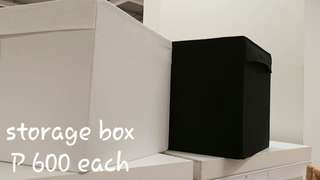 Storage box (black and white)
