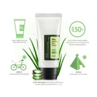 (D) COSRX Aloe Soothing Sun Cream SPF 50