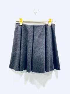 Zara Grey Wool Skirt - Preloved, Excellent Condition