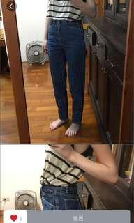 🚚 高腰丹寧褲