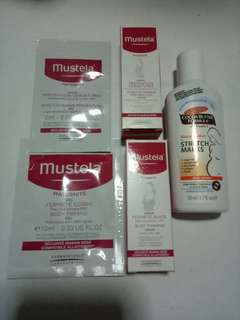 New Mustela Stretch Marks Prevention Oil or Cream,  Mustela Body Firming Gel, Mustela Bust Firming Serum,  Palmers Cocoa Butter Formula Massage Lotion Stretch Marks