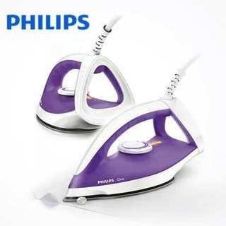 PHILIPS DRY IRON / Setrika GC 122 UNGU