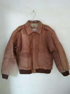 Jacket CWU 45 (U.S Army/Pilot) Full genuine Leather(Kulit)