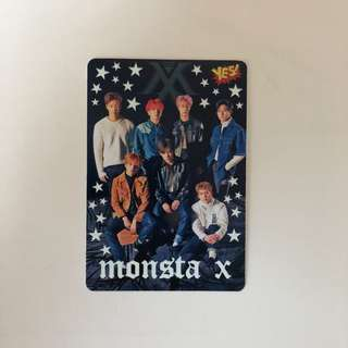 Monsta X Yes! Card 第35期 夜光卡