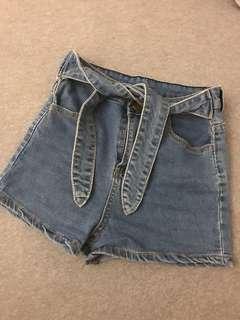 🚚 超顯瘦高腰綁帶短褲