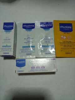 New Mustela Hydra Bebe Facial Cream, 2 in 1 Cleansing Gel,  Baby Oil, Very High Protection Sun Lotion, Vitamin Barrier Cream