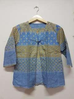 Outer Batik Blue