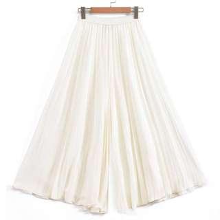 OshareGirl 07 歐美女士純色時尚大寬褲休閒褲褲裙