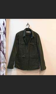 CACO NAVY 美式軍綠色100%純棉 外套