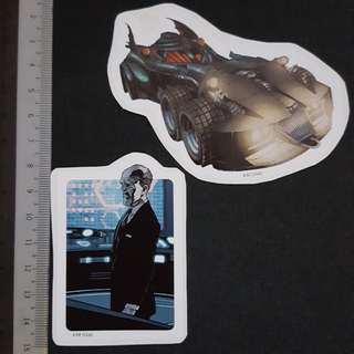 C5B DC Comics Batmobile & Alfred Pennyworth Sticker Stickers