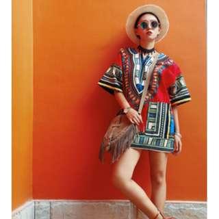 嬉皮波西米亞個性連身裙