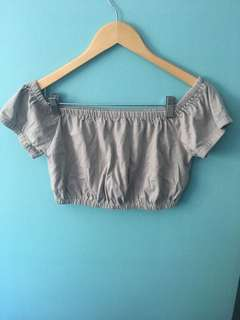 Aritzia Wilfred off the shoulder crop top size: M