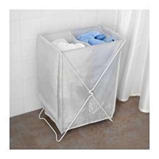 IKEA JALL keranjang cucian / Laundry Bag with stand - Putih