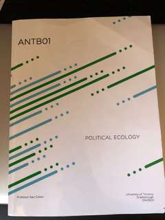 UFT Scarborough: Textbook for Political Ecology- ANTB01