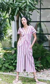 Pink Striped Dress ( include postage)