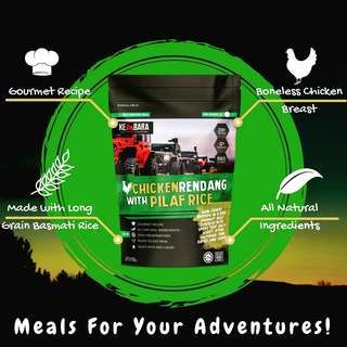 Kembara Adventure Meals (Chicken Rendang with Pilaf Rice)