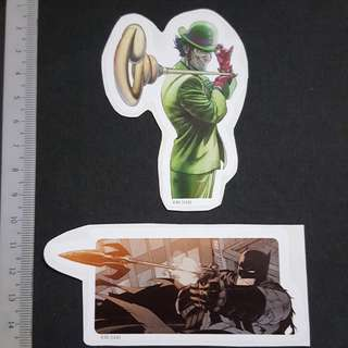 🚚 C5B DC Comics Batman's Grapnel Gun & The Riddler Sticker Stickers