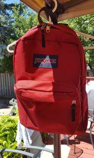 Classic Jansport Backpack Red