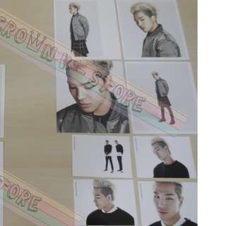 [CRAZY DEAL 90% OFF FROM ORIGINAL PRICE][READY STOCK]BIGBANG TAEYANG KOREA OFFICIAL CARD SET 8PC; ORIGINAL FR KOREA (PRICE NOT INCLUDE POSTAGE)PLEASE READ DETAILS FOR MORE INFO; POSLAJU:PENINSULAR AREA :RM10/SABAH SARAWAK AREA: RM15