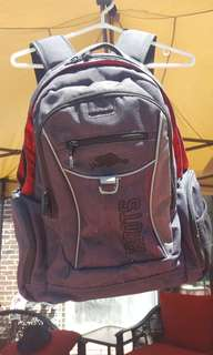 Roots Backpack Grey/Red