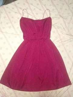 Maroon Mini Dress