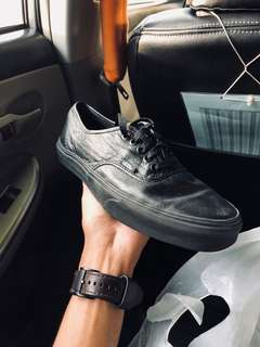 Vans Prem Leather Authentic Decon All Black