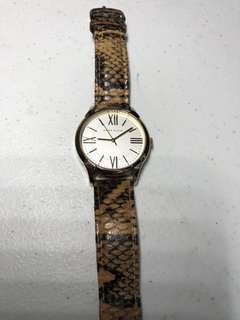 Authentic Anne Klein Snake Skin Leather Strap Watch