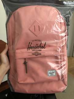 Herschel peach backpack