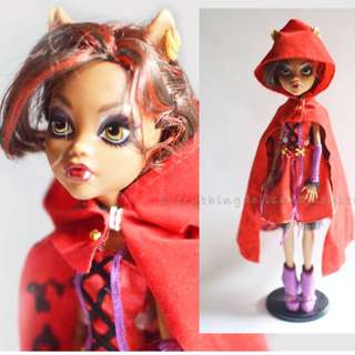 RARE MH monster high Clawdeen - Little dead riding hood
