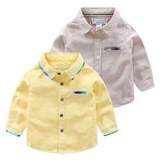 Boys pocket color c long-sleeved shirt