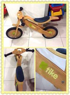 Tike wooden balance bike