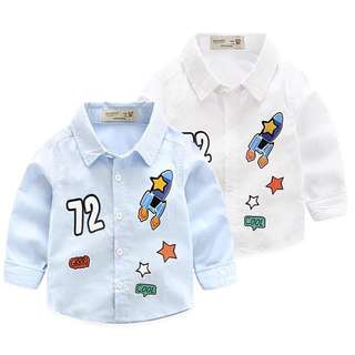 Boys number 72 rocket long-sleeved shirt