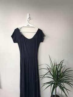 SEED navy elegant long dress