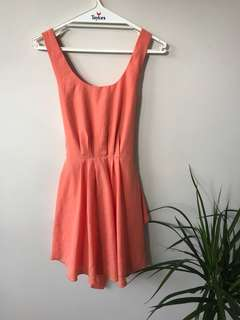 Coral sundress, day event dress