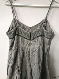 Olive, rustic festival playsuit