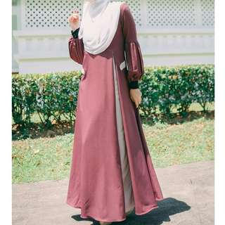 Purple dress jubah ungu